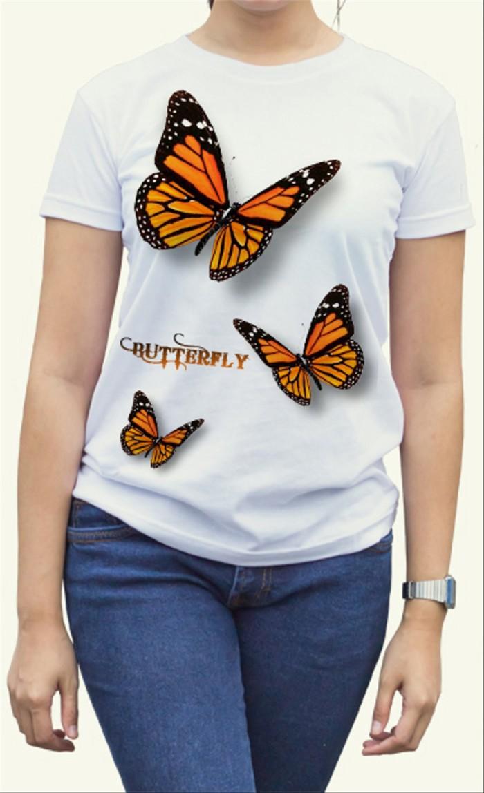 Jual Kaos Jcj Distro Tshirt Baju Butterfly Kupu Kupu Terbang Cantik Kab Ciamis JCJ Group