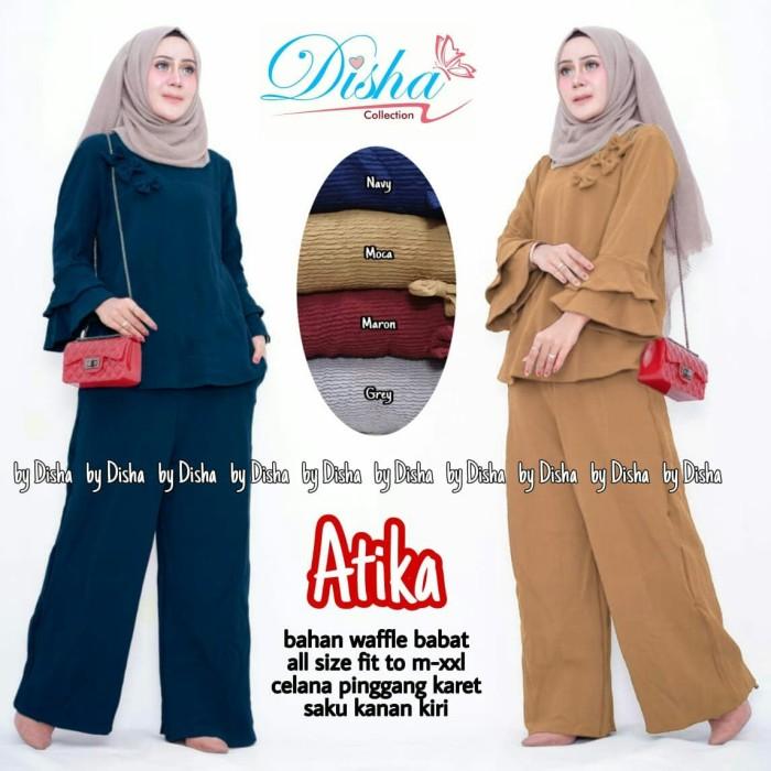 Foto Produk Atika setelan blouse dan celana kulot panjang dari mamaegio