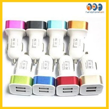 Foto Produk #FB003/Adapter Charger Mobil 2in1 / Saver Car Charger 2Output 2A dari HandphoneTiam
