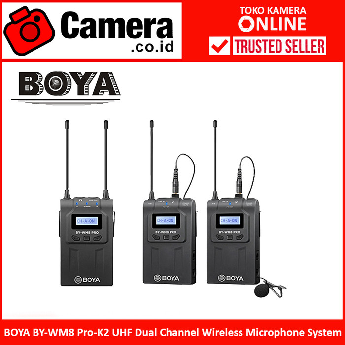 Jual Boya By Wm8 Pro K2 Uhf Dual Channel Wireless Microphone
