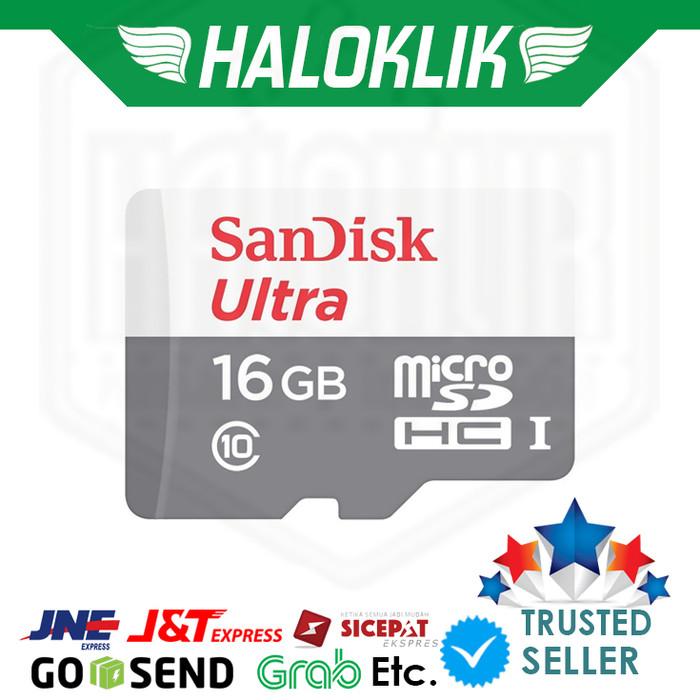 harga Sandisk micro sdhc ultra 16 gb / 48 mbs Tokopedia.com