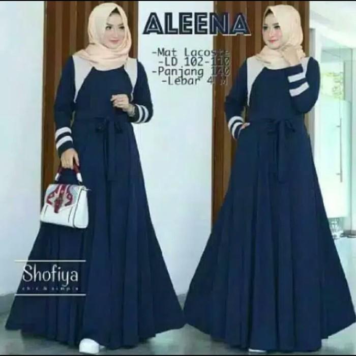 Foto Produk Pakaian Baju Busana Muslim Wanita Dress Maxi ALEENA Gamis Terbaru dari Zy's Distro