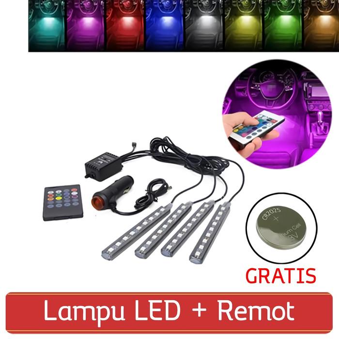 harga Lampu led rgb kolong / kabin mobil sensor musik dashboard te-0036-001 Tokopedia.com