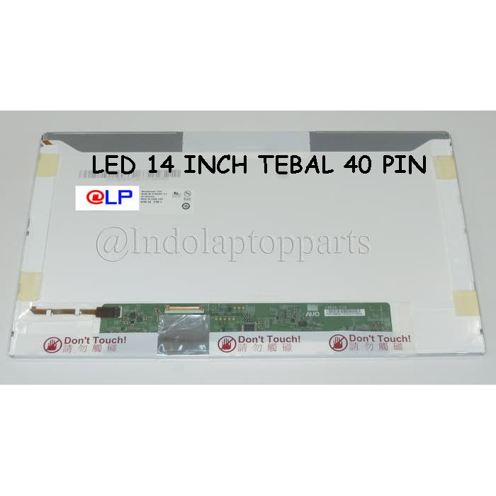harga Lcd / led laptop 14 inch standard (tebal) 40 pin Tokopedia.com