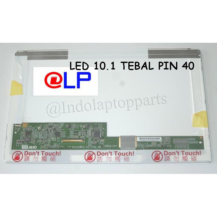 Foto Produk LAYAR LED 10.1 TEBAL STANDAR PIN 40 dari Indolaptopparts Store