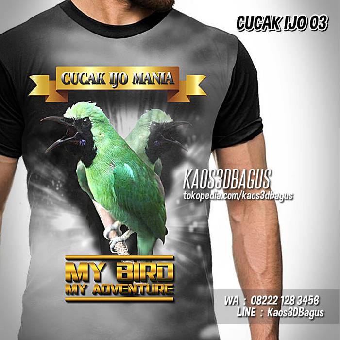Jual Kaos Cucak Ijo Mania Kaos Burung Kicau My Bird My Adventure 03 L Kota Bandung Kaos3dbagus Tokopedia