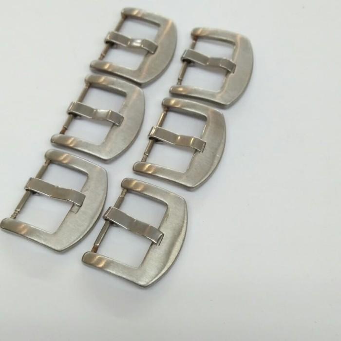 Foto Produk Jual buckle tali jam ukuran 22mm besi kancingan tali jam tangan kulit dari PUTRA  JAYA