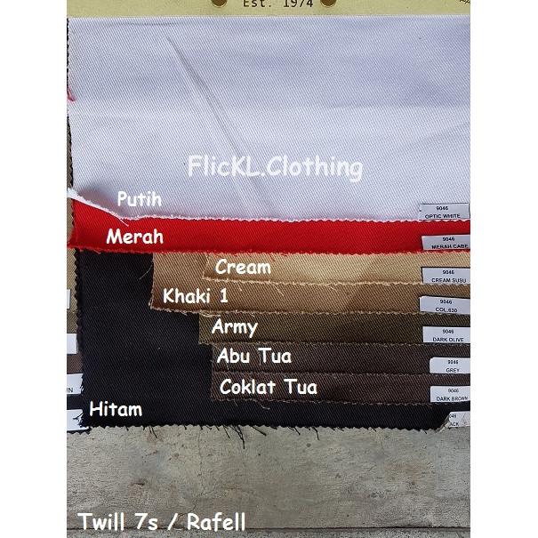 Foto Produk Bahan Kain Twill 7s Rapel Rafel Rafell Cotton Katun jaket tas Rollan dari FlicKL.Clothing