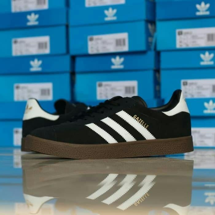 Jual Sepatu Adidas Gazelle Black Gum Bb5476 Original Bnib Hitam
