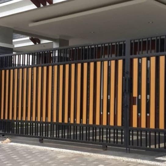 Jual desain pintu pagar geser dari besi Kota Padang