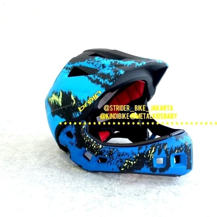 Jual Push Bike Balance Bike Strider Helm Sepeda Anak Full Face Brain Blue -  Kota Depok - Metalkids milk & baby | Tokopedia