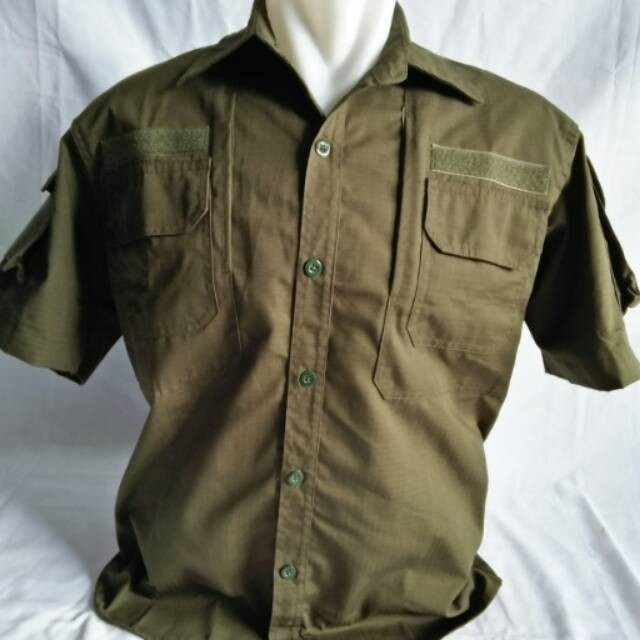 Foto Produk Kemeja helicon tactical short sleeve pendek ijo army ripstop cotton dari Gondhes