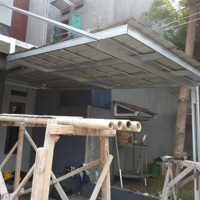 Jual Kanopi Bajaringn Atap Genteng Metal Pasir Kota Depok Mugi