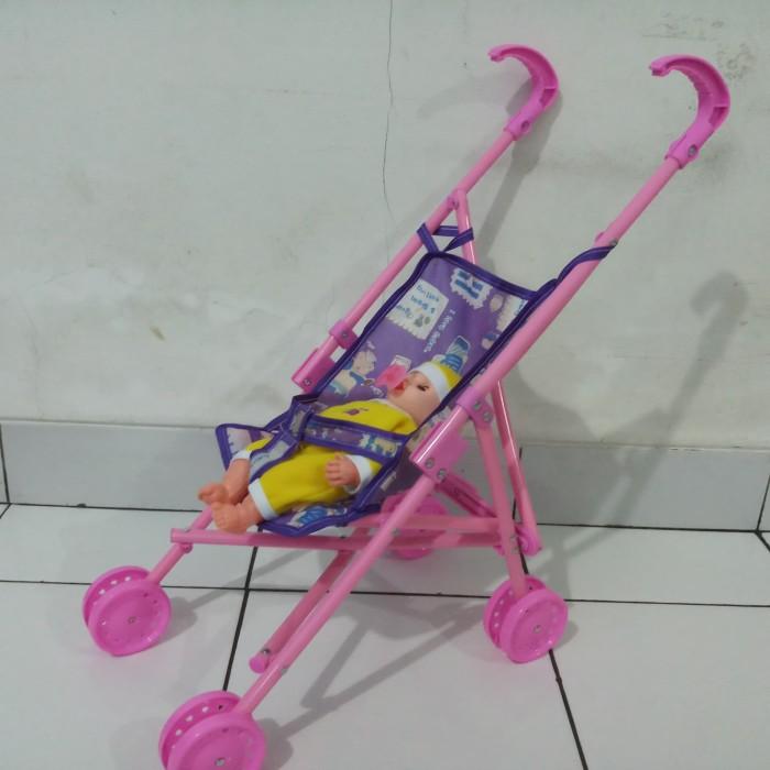 harga Stoller dorongan boneka bayi kereta boneka susan dot empeng 1 set mura Tokopedia.com
