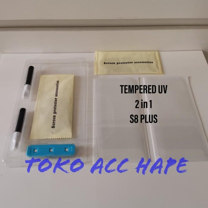 harga Tempered glass 2 in 1 premium kaca bening uv glue/lem samsung s8 plus Tokopedia.com