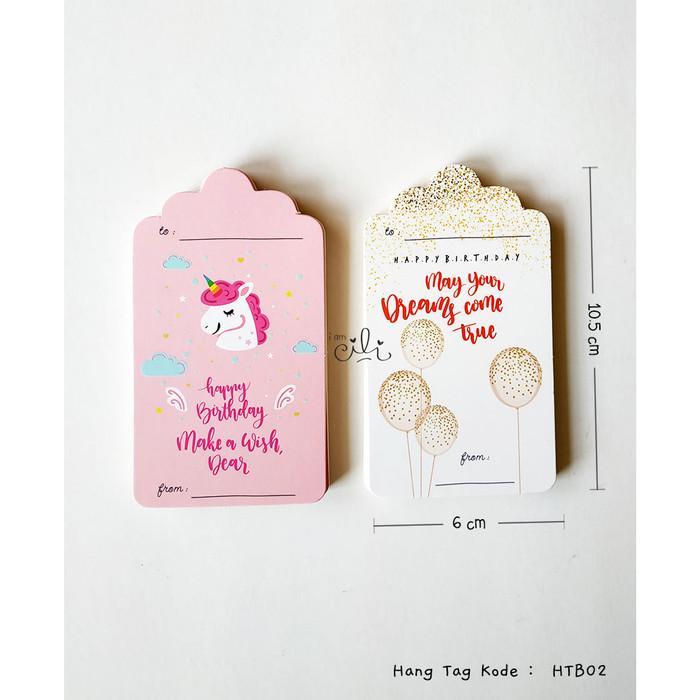 Foto Produk (HTB02) tag ucapan ulang tahun birthday unicorn dari i am CiLi