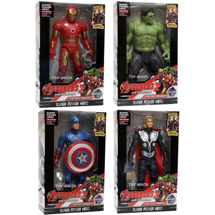 Foto Produk Mainan Robot Avenger 2 Set Of 4 Captain America, Hulk, Iron Man, Thor dari ciustoys