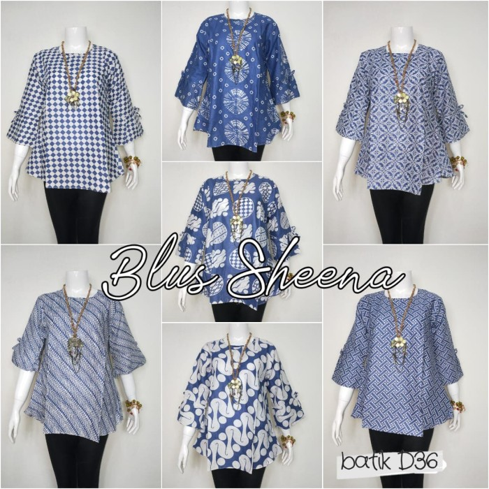 Foto Produk Batik Solo Blus Sheena Seri Bumi Batiksoloamanah 55.000 dari Batik Solo Amanah
