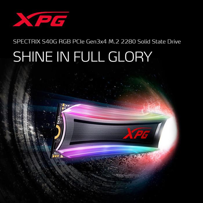 Foto Produk ADATA SSD RGB XPG SPECTRIX S40G 256GB PCIE GEN3X4 - AS40G-256GT-C dari Flazz Computer Pekanbaru