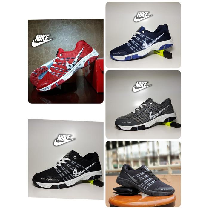 Sepatu sport nike airmax badminton navy / sepatu olahraga pria