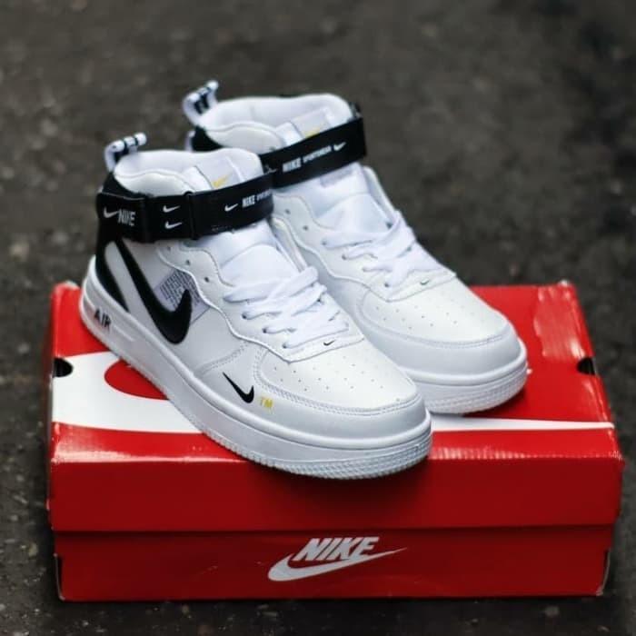 Kode Sneakers Nike Force Tali Mid Sepatu White Toko One High ShopTokopedia Yovi Lv8 Jakarta Air 1 Dki Jual 07 1clFJK
