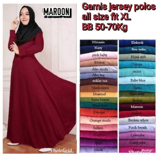 Jual Maulida Promo Gamis Jersey Polos 1kg Isi 3pcs Jakarta Timur Esun Store85 Tokopedia