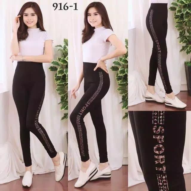 Jual Celana Legging Panjang Wanita Leging Ketat Senam Olahraga Lari Gym Jakarta Barat Boutique Preloved Tokopedia