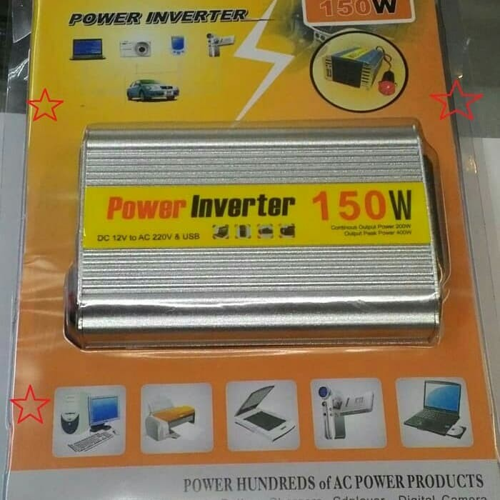 harga Power inverter 150w / 150 watt dc to ac car power Tokopedia.com
