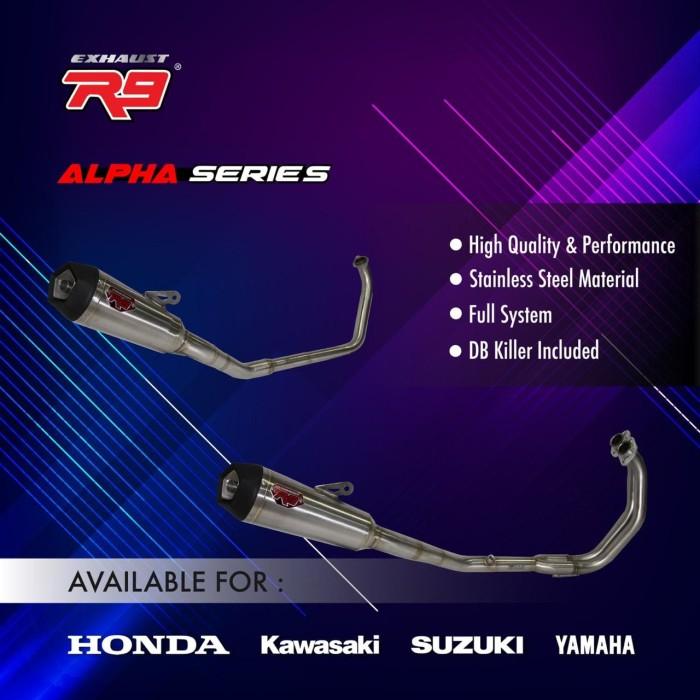 Foto Produk Knalpot R9 Alpha racing NMAX AEROX asli ori R9 with DB killer dari Murah Rejeki Motor