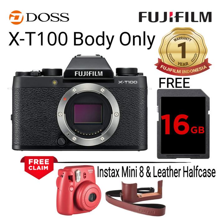 harga Fujifilm x-t100 body only / fujifilm xt100 - dark grey Tokopedia.com