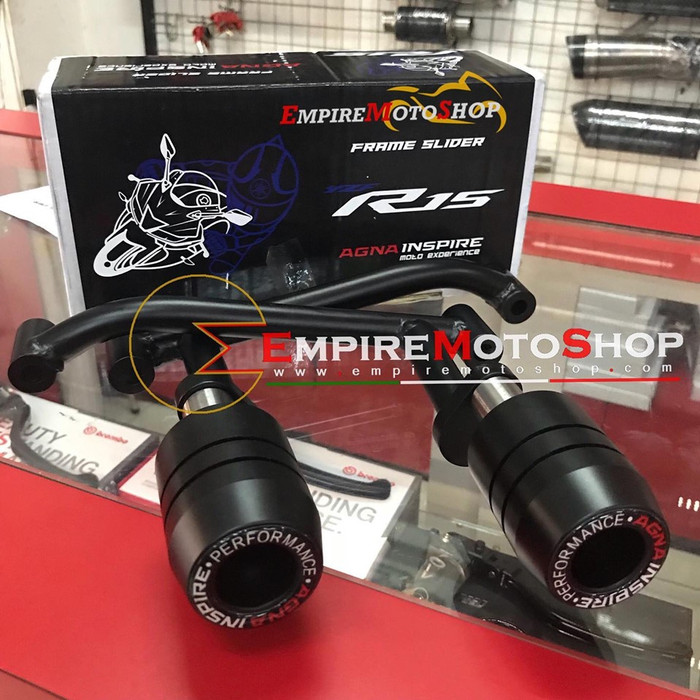 Foto Produk Frame Slider AGNA Yamaha R15 V3 All New VVA dari Empiremotoshop