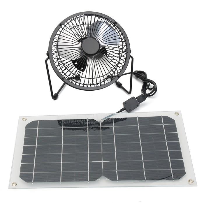 Solar Power Fan >> Jual Solar Panel Fan 10w Waterproof Working Lower Light For Hot Jakarta Pusat Tool Industry Tokopedia