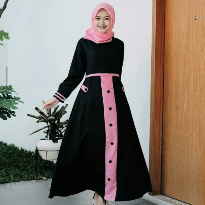 Jual Baju Muslim Wanita Dress Syari Cewek Gamis Muslimah Terbaru Gamis Mura Hitam Kota Yogyakarta Outletbandung Id Tokopedia