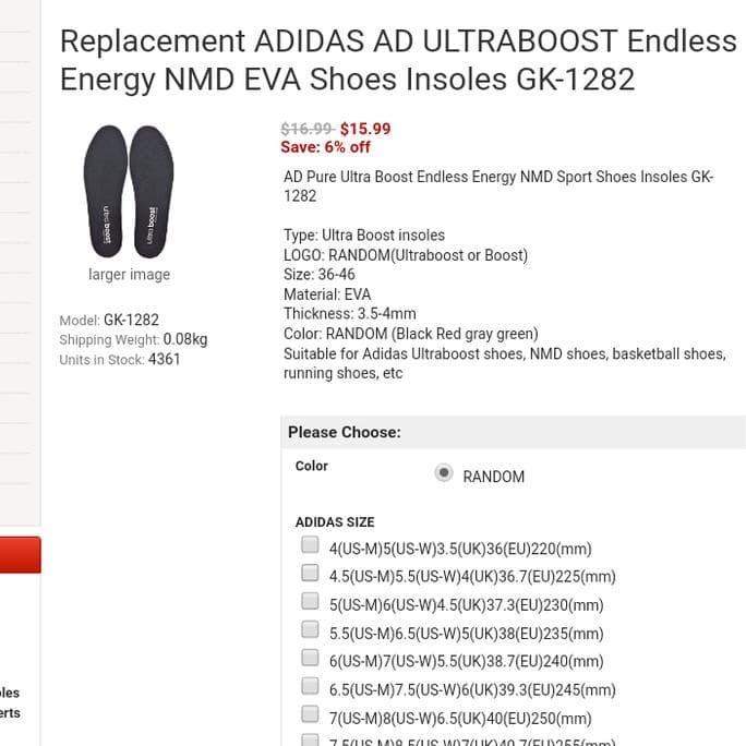 Jual Terkeren Berkualitas Adidas Ultra Boost Nmd Original Insoles Alas Jakarta Barat Lisbaryudi Tokopedia