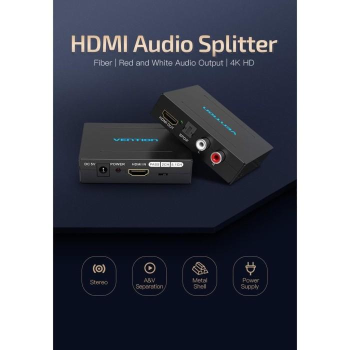 Jual Vention AFH HDMI Audio Devider/Splitter/Segragator Optical RCA Stereo  - Jakarta Pusat - NaturalColection | Tokopedia
