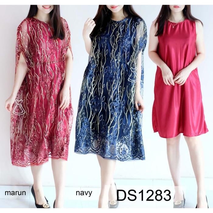 Jual Seds1283 Dress Tile Bordir Glitter Mewah Dress Wedding Party Wanita Jakarta Utara Seola Tokopedia