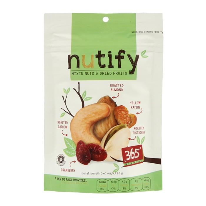 harga Nutify - trail mix 365 - 60gr - camilan sehat Tokopedia.com