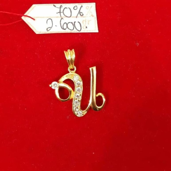 Jual Lt284e278e Liontin Huruf U Emas Permata Inisial Nama Abjad Latin Gold Kota Surabaya Paris Gold Jewelry Tokopedia