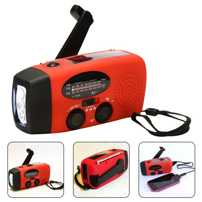 Foto Produk 3 in 1 Emergency Charger Hand Crank Generator Radio Solar LED dari That is The CASE