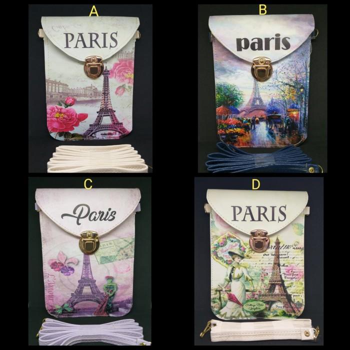 Foto Produk [ BELLE ] TAS SLEMPANG MINI BAG PRINTING PARIS KUNCI EMAS FASHION dari Marie Shop