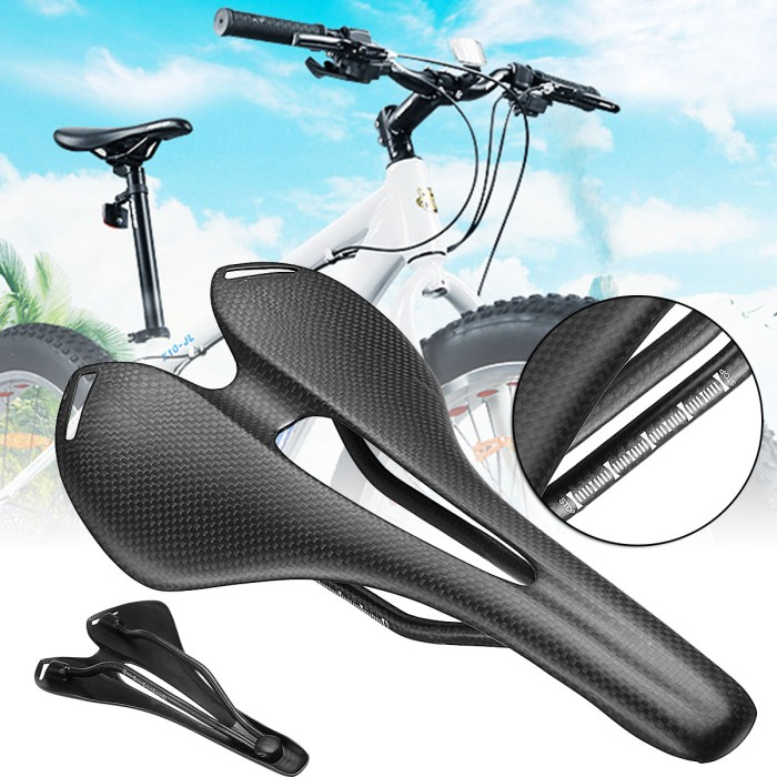 Foto Produk New Style BIKIGHT Carbon Fiber Bike Bicycle Saddle Seat Hollow 3K dari DePe Sport