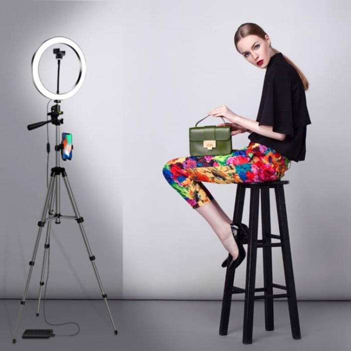 harga Ring light makeup lengkap tripod stand / siaran langsung / selfie aaa Tokopedia.com