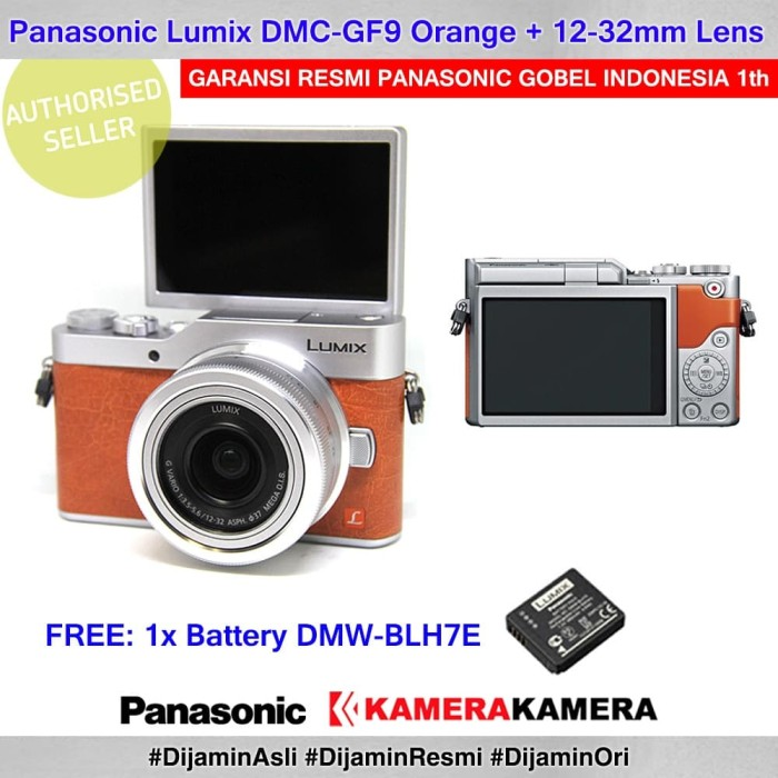 harga Kamera mirrorless panasonic dc-gf9k orange kamera vlog gf9 + battery Tokopedia.com