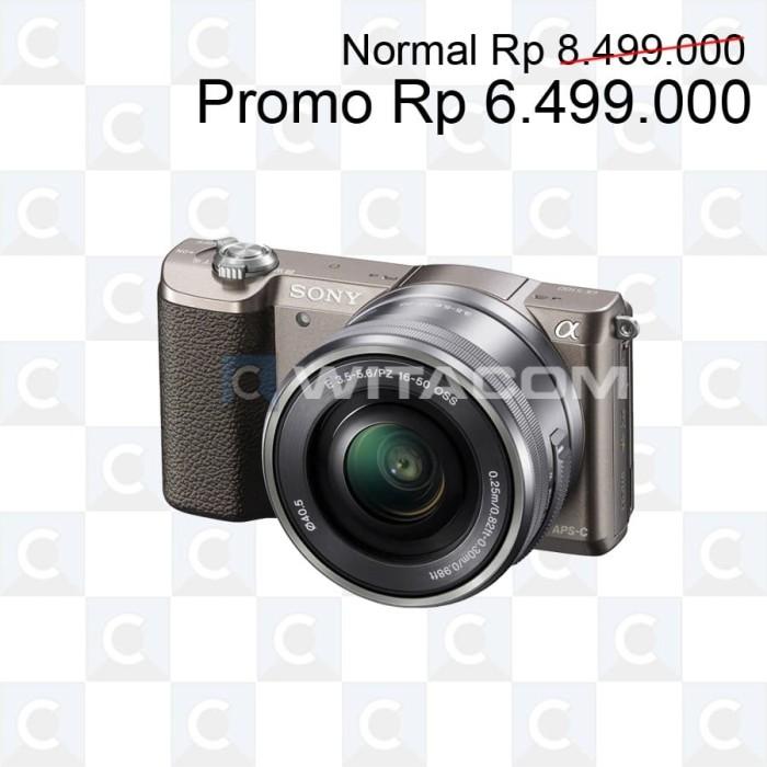 harga Sony ilce-5100l / alpha a5100l kit 16-50mm f3.5-5.6 oss - brown Tokopedia.com