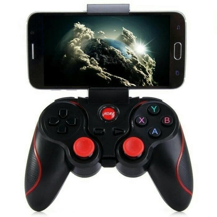 Foto Produk X3 Gamepad stick Hp wireless with Holder - Gamepad Wireless Holder X3 dari bluekomputer