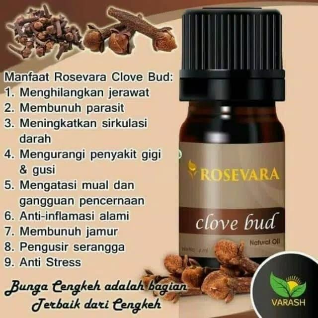 Jual Rosevara Clove Bud Essential Oil Bunga Cengkeh Kota