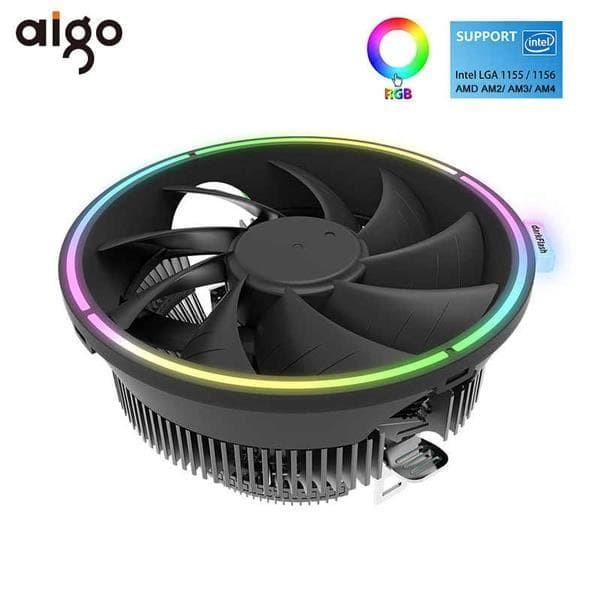 Foto Produk AIGO CPU COOLER DarkFlash DARKVOID LGA775/115x/1366 AM4 AM3 AM2 RGB dari silicon ONE Computer
