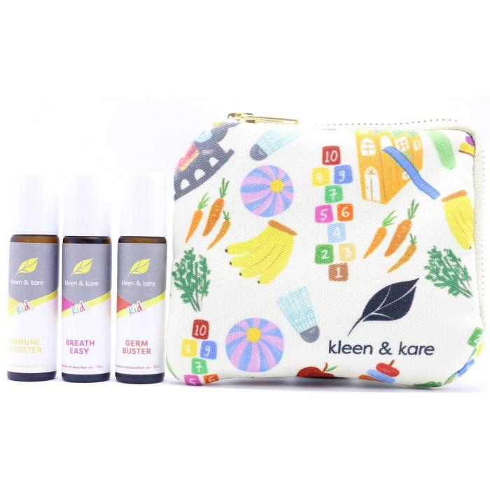 Foto Produk Roll On Set for Kids + Ideku Handmade Pouch | Essential Oil Murni Anak dari Kleen and Kare