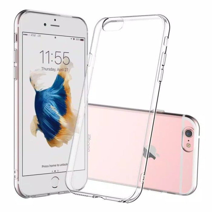 Foto Produk Silicone bening Iphone 6 6s 7 8 PLUS x xr xs max clear case cover dari Rkaseshop