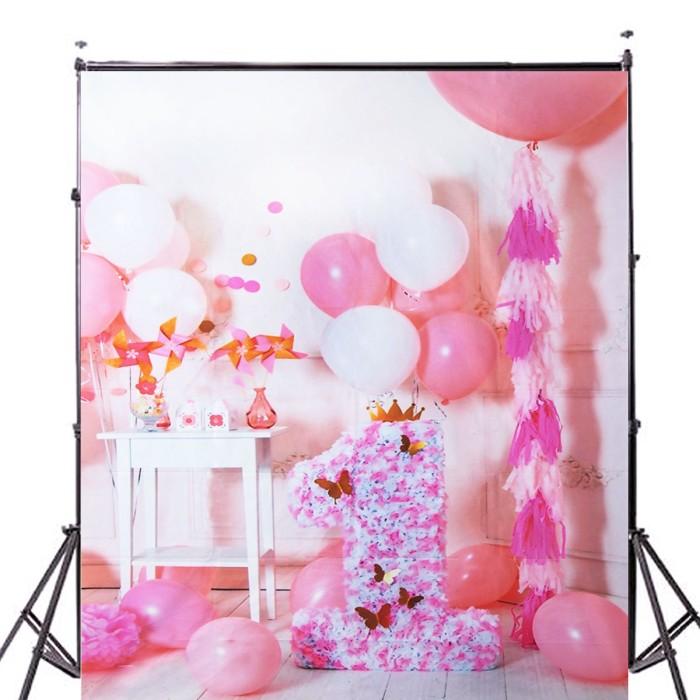 Jual 5x7ft Pink Balon Ulang Tahun Fotografi Latar Belakang Jakarta Barat Elektronik Murah Shop Tokopedia